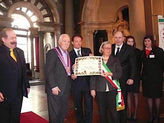 Donatella Cinelli Colombini alla consegna del Premio Caterina de Medici