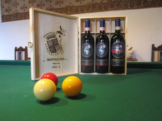 tre annate di Brunello di Montalcino Riserva DOCG