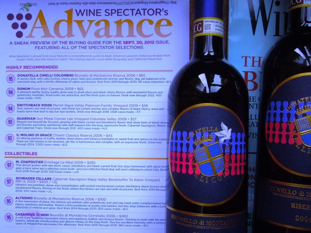 Brunello-2006-riserva Wine-Spectator