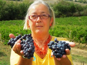 Donatella with grapes