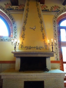 Osteria di Donatella's restaurant_fireplace