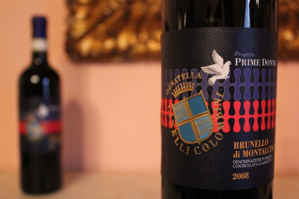 Brunello 2008 PrimeDonne primo piano bottiglia