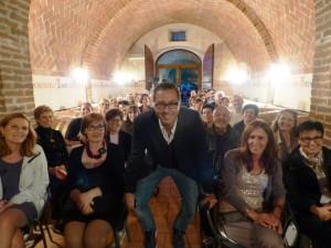 Luca Bianchini  nella cantina della Fattoria del Colle