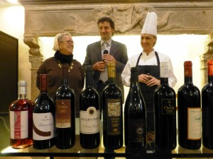Donatella Cinelli Colombini, Michele Boscagli, Katia Maccari a San Giovanni d'Asso