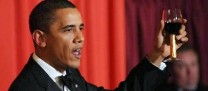 Obama brindisi vino