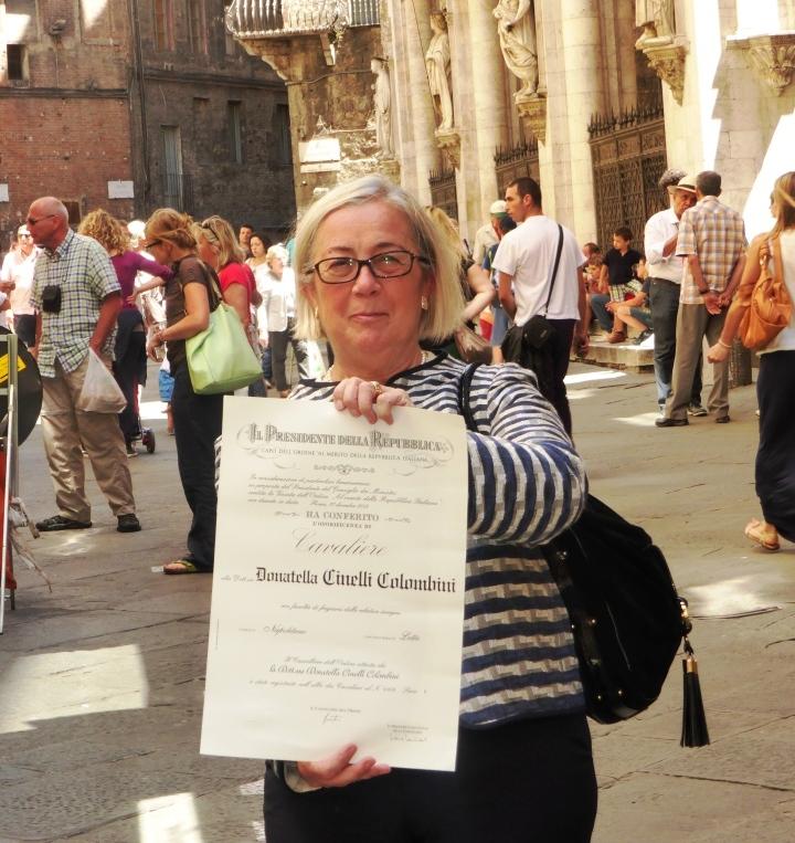 2 giugno 2014 Cavaliere della Repubblica Donatella Cinelli Colombini