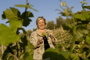 Donatella Cinelli Colombini in her vineyards