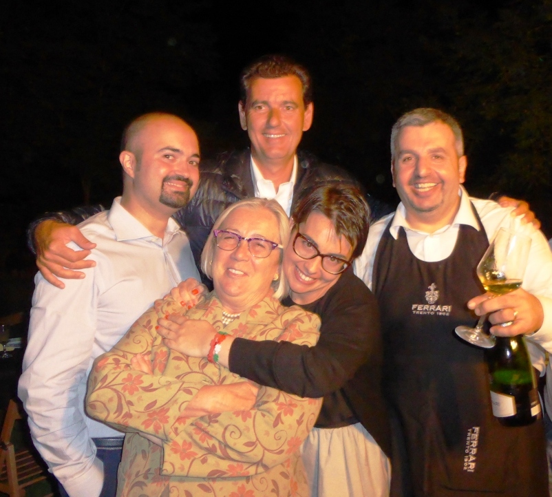Ignazio Anglani, Marcello Lunelli, Donatella Cinelli Colombini, Violante Gardini e Gianluca Monaci