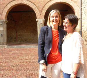 Montalcino Castello Banfi Carlotte Pasqua e Violante Gardini Cinellicolombini Jr