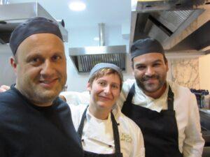 Gozo Vine e Capricci la chef Roberta Archetti con i colleghi maltesi