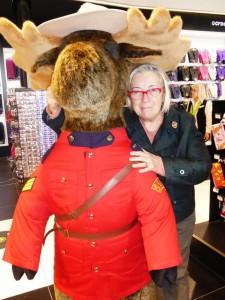 Quebec Donatella con la guardia canadese