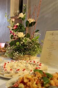 wine wedding in Tuscany Fattoria del Colle - dessert buffet in the cellar