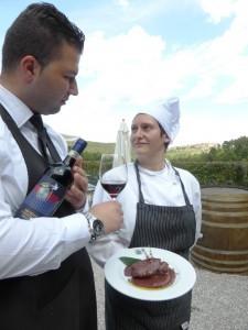 Fattoria del Colle Chef Roberta and maitre Florjan