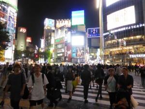 Tokyo incrocio con pedoni