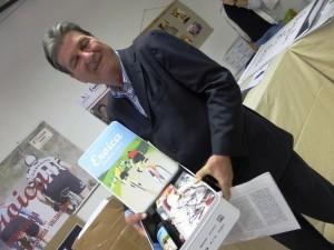 Lorenzo Borgogni con il pacco eroico a Buonconvento