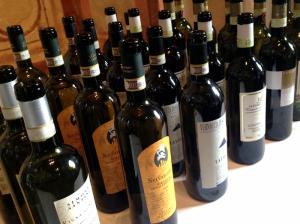 Bottiglie di Vernaccia di San Gimignano