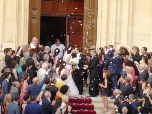 Alison e William uscita dalla Cattedrale