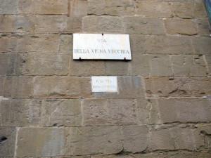 Via della vigna vecchia Firenze