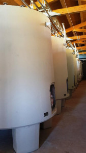 New vats room in Casato Prime Donne winery