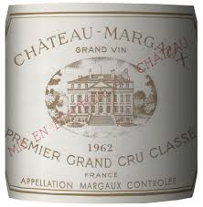 cantina del governo inglese Chateau Margaux 1962