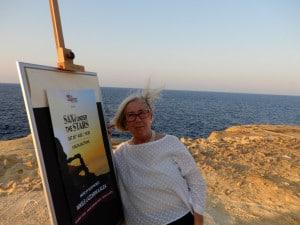 Donatella-Cinelli-Colombini-all'ingresso-delle-saline-di-Gozo