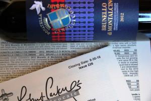 Robert Parker Wine Advocate Brunello 2012