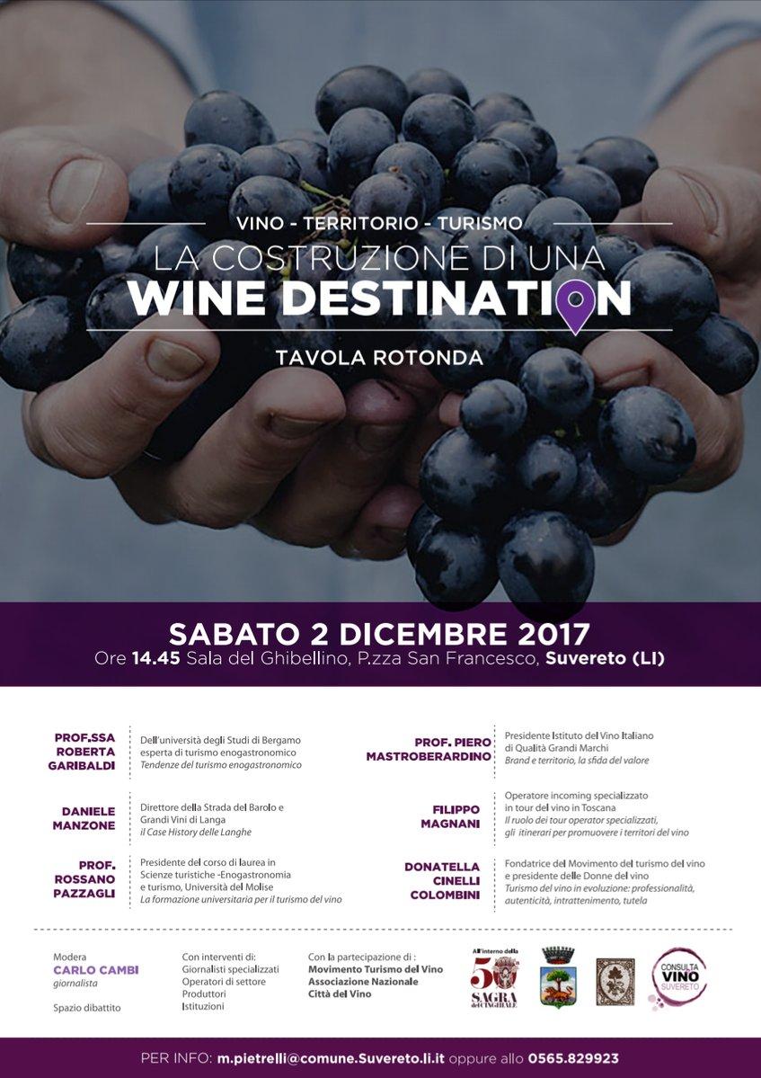 Wine destination tavola rotonda Suvereto
