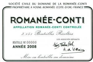 Romanée Conti Etichetta