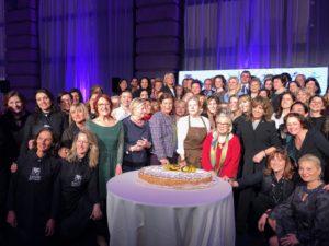 torta del trentennale delle Donne del Vino