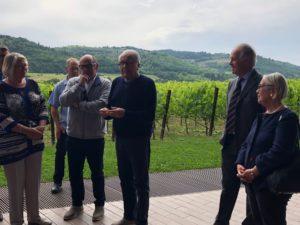 AIV-visita in Toscana Antinori nel Chianti Classico, Maurizio-Zanella-Angelo-Gaja-Piero-Antinori-Donatella-CinelliColombini