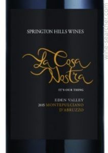 'La Cosa Nostra' Montepulciano d'Abruzzo-Springton Hills Wines