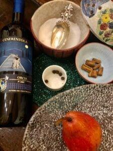 Pere cotte nel vino Fattoria del Colle Ristorante