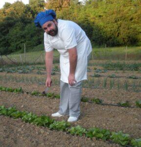 Fattoria del Colle - chef Antonio nell'orto 2020